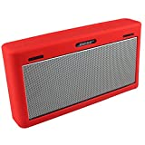 Soundlink Mini 3 Hülle, Soft Travel Tasche Tragetasche Silikon Schutzhülle für Bose Soundlink Mini III Wireless Bluetooth Speaker (rot)
