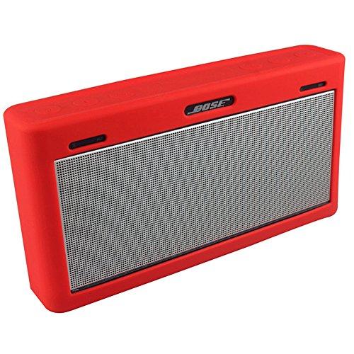 per Bose Mini 3 Caso, Soft Viaggi silicone di trasporto della pelle della copertura protettiva della cassa per Bose SoundLink Mini III altoparlante senza fili Bluetooth (Red)