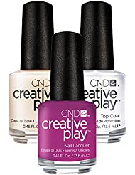 CND Creative Play Drama Mama Nr. 476 13,5 ml mit Creative Play Base Coat 13,5 ml und Top Coat 13,5 ml, 1er Pack (1 x 0.041 l)