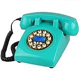 Old School Retro Design schnurgebundene/Festnetz Festnetz Telefon - blau (Farbe : Gold Button)
