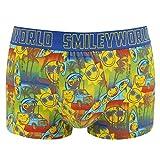 Smiley World Cool Beach lustige Boxershort Unterhose Pant Underwear Geschenk für Herren,Geschenkidee Jungen, lustig witzig frech gelber Smileys Surfer Look 95% Baumwolle (M)