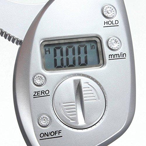 Qiorange 50mm Digital LCD Körperfettzange Hautfaltendicke Mess Gesundheit Fitness Gewichts Körperfettüberwachung Körperfettmessgerät zur Körperfettanalyse - 5