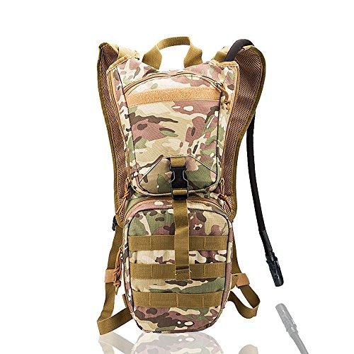 newdoar Tactical Hydration Pack Rucksäcke mit 3.0L Blase für Wandern, Radfahren, Running, Walking und Klettern Grün