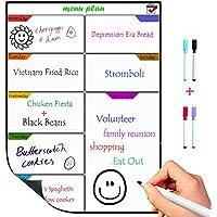 TTMOW Pizarra Magnética de Frigorífico para Tablero de Mensajes,Cocina Nevera/Sala/Aula para Planificador Ideal Planificador de Menú,Lista de la Compra,Grabar Notas/cumpleaños-Incluye 4 Rotulador