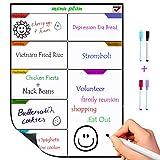 TTMOW Magnetische Wöchentliche Planer Kühlschrank Menü Planer Wöchentliche Magnettafel für Einkaufsliste Wochenplan, Wöchentliche Menü Planer Notiz Board Memoboard (4 Kostenlose Stift im Lieferumfang)