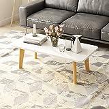 ZHXUANXUAN Plier Petite Table Basse Simple Salon en Bois Massif Simple Table à Thé Moderne Carré Rectangle,White