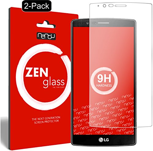 nandu I ZenGlass [2 Stück] Flexible Glas-Folie für LG G4 Panzerfolie I Bildschirm-Schutzfolie 9H
