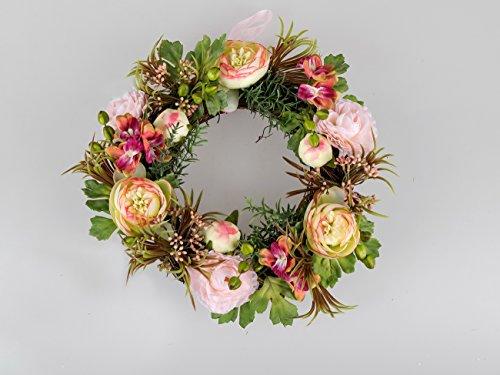 Türkranz Wandkranz Wanddeko Deko Tisch Frühlings Oster Blumen Tee Rosen Kranz