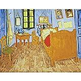 RYUANYUAN Ölgemälde Berühmte Arles Bett Dekorative Leinen Leinwand Gemälde Spiegel Wanddekor Für Wohnzimmer 16x20 inch (40x50 cm) Rahmenlos