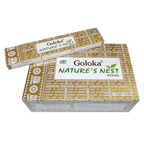 Räucherstäbchen 180g Goloka Nature's Nest Incense Wohnacessoire Deko Raumduft (Mischung 15 G-packung)