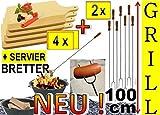 4x Spieße Picknick-Set 100cm