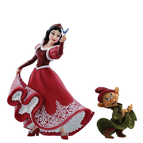 Anniversary Christmas Snow White & Dopey Figurine, Resin, Multicolour, 13 x 11 x 20 cm ()