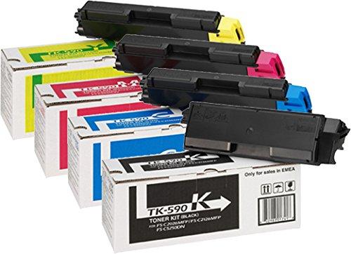 Preisvergleich Produktbild Kyocera Mita TK-590 Set - ORIGINAL - (TK-590K - 1T02KV0NL0, TK-590M - 1T02KVBNL0, TK-590Y - 1T02KVANL0, TK-590C - 1T02KVCNL0) - ORIGINAL TK 590 Toner PRIME