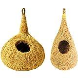 Bramma Coir Bird Nest Combo Of 2 For Small Birds And Sparrows