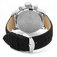 Invicta 1514_black-46 - Reloj cronógrafo de cuarzo para hombre, correa de tela color negro de Invicta