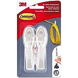 Command 17304 - Pack de 2 ganchos agrupador de cables color blanco