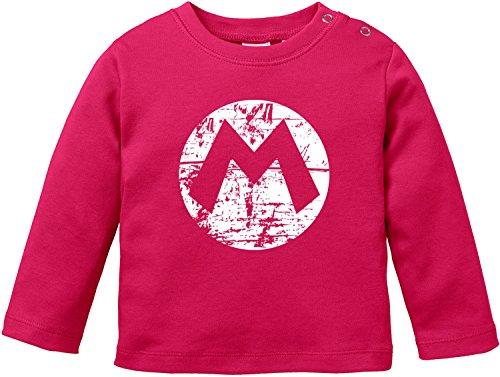 EZYshirt Mario Baby T-Shirt Longsleeve Bio -