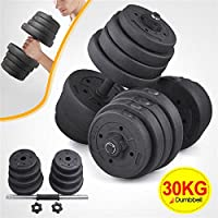 tinkertonk Weights Dumbbell Set Gym Fitness Biceps Exercise Training 30KG Dumbells, Set of 2