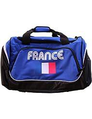 PATOUTATIS - sac de sport 55 L - supporter équipe de France - marquage FRANCE et drapeau Bleu Blanc Rouge