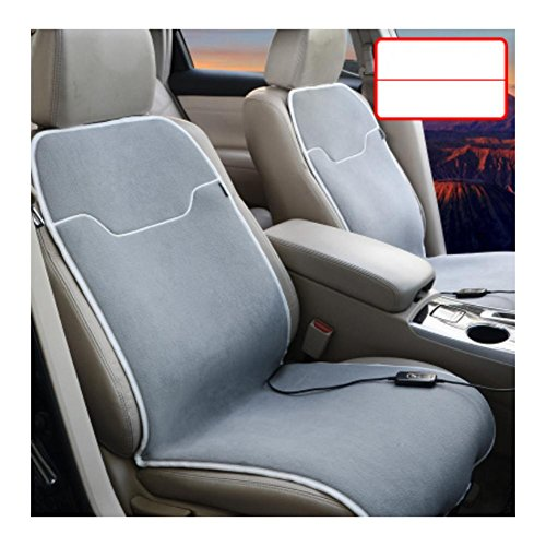 Al'ge'r Auto Elektroheizung Polster 12V Auto Winter warm Sitzkissen , double , gray