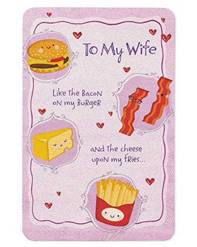 Lebensmittel Geburtstagskarte für Frau mit Folie