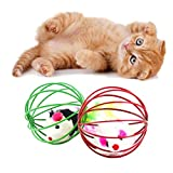 Transer® Toys for Pet Cat- Funny Rat in A Cage Ball- Kitten Favorite Teaser Interactive Toy