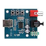 Almencla PCM2704 USB DAC USB Power Sound Karte Dekodierung USB DAC Auf S/PDIF Soundkarte Decoder 3.5mm Analog Ausgang F/PC