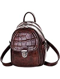 Patrón de cocodrilo mochila bolso moda moda multifunción pequeña mochila
