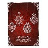 LQQSTORE Decken Weihnachtsdekoration Warme Bettwäsche Blanket Weihnachtsdecke Flanell Stoff Sofa Bettdecke Bettbezug Bed Blanket Weihnachten Decken Fleecedecke Tagesdecke (E, 70 * 100cm)