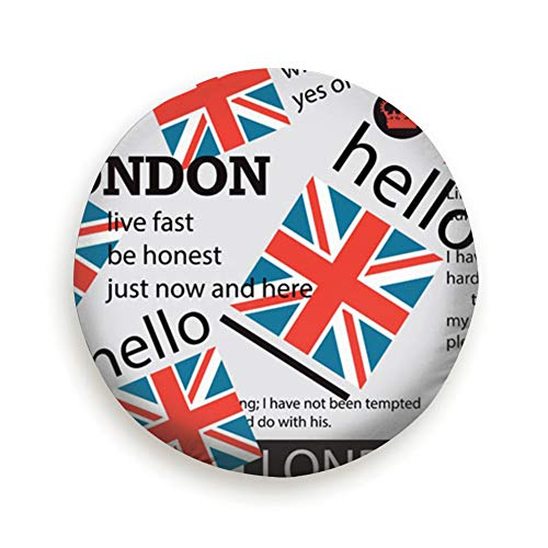 Bidetu Newspaper English Crown Flag Vintage Universal Spare Tire Type Cover Wheel Covers 15inch - Flag Crown