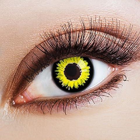 Couleur des lentilles de contact Demons Date de aricona – années couvrant la lentille à terme pour les yeux sombres et claires- sans correction- les lentilles colorées pour le carnaval- des soirées à thème et des costumes d'Halloween