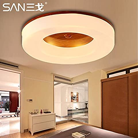 KHSKX Lámpara de techo,Led regulable lámpara de techo redondo lámpara minimalista moderno es caluroso salón lámpara dormitorio cocina balcón pasillo lights 430*430*58mm