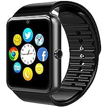 Reloj Inteligente Bluetooth 4.0 Smartwatch con la Batería de larga duración de BraceTek con TF / Tarjeta SIM Ranura,Análisis de Sueño,Podómetro,Anti-pérdida,Fitness tracker Mensaje Alertas para Samsung, HTC, LG, Sony, Huawei teléfonos inteligentes Android