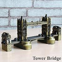 K&C bronzo London Tower Bridge storico modello di edificio decorazione dell'ufficio costruzione in metallo ornamento
