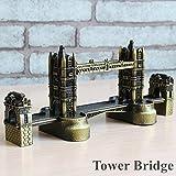 K&C Vintage Bronze London Tower Bridge modèle de bâtiment bâtiment historique en métal ornement décoration de bureau