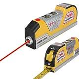 Multiuso 2,4m LV02laser Level Horizon Vertical misura di nastro nastro standard e metriche righello, giallo
