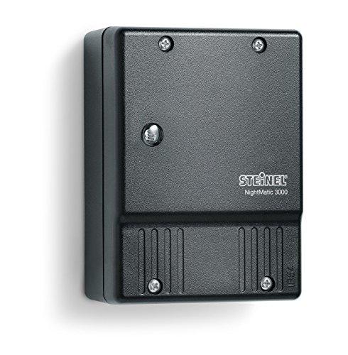 Steinel NightMatic 2000 550318 - Interruptor crepuscular para el exterior, luz de control crepuscular por la noche, eficiente de la energía, para el montaje en la pared, color negro