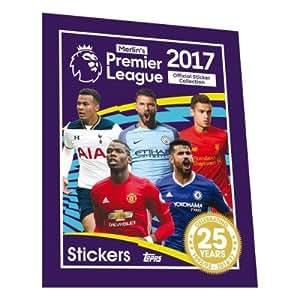 Topps Merlins Premier League 2017 Aufkleber-Ansammlung (Volle Booster-Kasten) 50 Sätze
