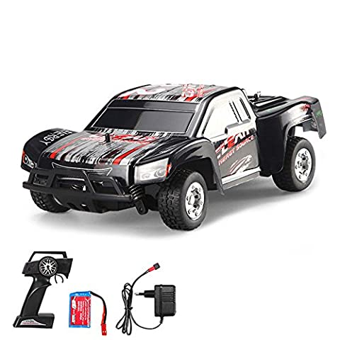 1:24 Off-Road 2WD mini RC ferngesteuertes High Speed Short Course Monstertruck Buggy, 2.4GHz Digital vollproportionale Steuerung Top-Speed bis zu 25 km/h, Komplett-Set (Super-racing Seat)