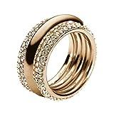 DKNY Damen-Ring Edelstahl Kristall Glaskristall gold NJ1962040-6.5