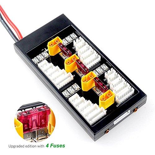 FancyWhoop XT60 LiPo Akku Balance Ladestation 2-6S Parallel Connect Plate (Lipo-akku-ladestation)