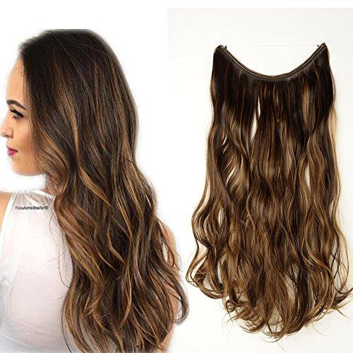 Extension capelli con filo invisibile 50cm 20