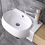 Design Hängewaschbecken Brüssel001, aus Keramik, Wandmontage, Waschbecken,