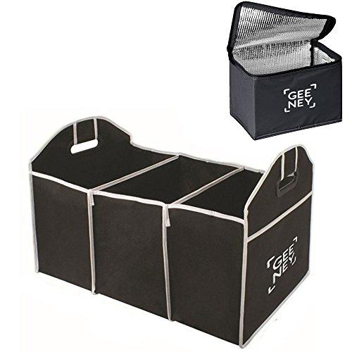 Organizer per bagagliaio shopping Tidy Heavy Duty baule pieghevole borsa della spesa pieghevole e di raffreddamento di