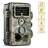ABASK Wildkamera Digitale 12 MP 1080P HD Wasserdichte Überwachungskamera 3 Zone...