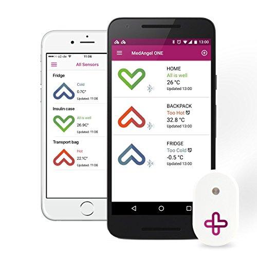 MedAngel ONE – Ein digitaler Temperatursensor für Medikamente.