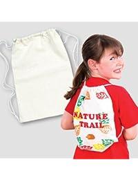 Baker Ross Kordelzug-Rucksäcke (34cm x 23cm) für Kinder zum Bemalen, Gestalten und Tragen, ideal als Sporttasche... preisvergleich bei kinderzimmerdekopreise.eu