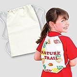 Baker Ross Kordelzug-Rucksäcke (34cm x 23cm) für Kinder zum Bemalen, Gestalten und Tragen, ideal als Sporttasche - (2 Stück)