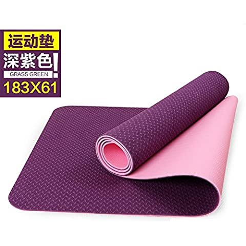 TPE Yoga pad 6mm colore verde e insapore slip fitness