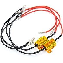 2pcs LED bombillas carga Resistor Señal Fijación 12V, 8Ohm 25W error Flash parpadeo